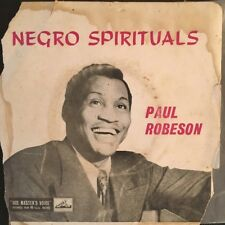 "PAUL ROBESON Negro Spirituals 45rpm 7"" Vinyl Single E.P. Record Picture Sleeve"