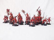Warhammer Daemons Of Khorne 1 Bloodthrone-3 Bloodcrushers-10 Bloodletters-Custom