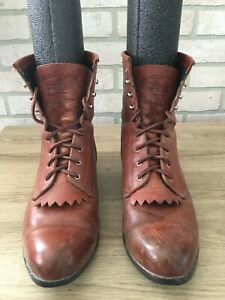 ARIAT Men's Advanced Torque ATS 30023 Brown Leather Lace Boots Size 11