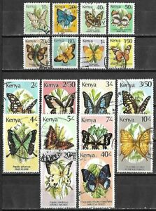 Kenya #424A-440 Used $26.80 SCV ** Butterfly Topicals **