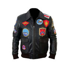Tom Cruise Top Gun Leather Jacket | Bomber Air Force Pilot Leather Jacket