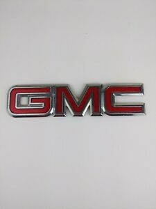7'' GMC OEM Canyon Envoy Jimmy Yukon Rear Trunk Tailgate Lift Gate Emblem Badge