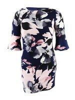 Vince Camuto Women's Floral-Print Bell-Sleeve Dress