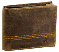 New Mens RFID Blocking Vintage Real Distressed Leather Wallet Purse Brown 1150