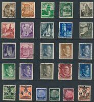 Lot Stamp Germany Poland WWII Hitler Osten Hindenburg Warsaw U