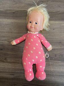 Vintage Mattel Drowsy Baby Doll blonde hair Does NOT Talk 1975 ORIGINAL Taiwan