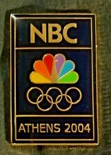 ATHENS 2004 OLYMPIC GAMES NBC TELEVISION MEDIA PIN