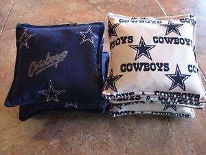 Cornhole Corn Toss Bags Dallas Cowboys NFL Set of 8 Canvas Duck Free Shipping