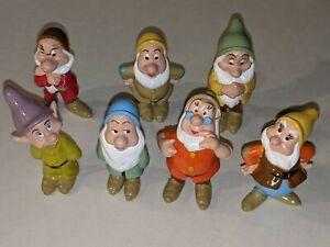 SEVEN DWARFS Snow White Disney 1993 Mattel PVC Figures/Figurines Cake Topper LOT