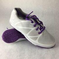 Footjoy Women's FJ Leisure Golf Shoes Size 6 White  Purple 92901