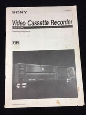 OPERATING INSTRUCTIONS SONY VHS VIDEO CASSETTE RECORDER SLV-373UC