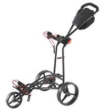 Big Max Autofold FF  - 3-Rad-Golftrolley  ultrakompakt Farbe Schwarz Neuheit!