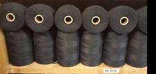 Rug Warp- Lot of 24 (1/2 lb ea) Spools- 8/4 Polyester - Color Black