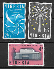 NIGERIA , 1962 8th COMMONWEALTH CONF.,  SET OF 3 STAMPS  , PERF , VLH
