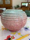 Roseville Tourmaline Pink/Rose and Aqua Pottery Vase #238 circa 1933