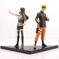 """2 pcs Naruto Uzumaki & Hinata Hyuga PVC Action Figures Set 6"""" Anime Statue Toy"""