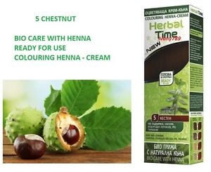 5 chestnut 100% NATURAL HERBAL TIME HENNA CREAM HAIR COLOURANT DYE 75 ml