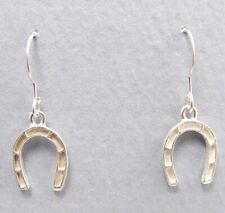 Horse Shoe Earrings Sterling Silver