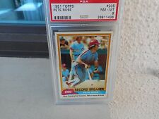 1981  TOPPS ....PSA  NM-MT 8 NQ....# 205  PETE ROSE REC BK...REDS