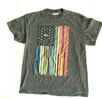 Levi's T Shirt  Multi Colored Flag Stars & Stripes