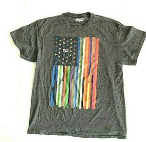 Levi's T Shirt  Multi Colored Flag Stars & Stripes