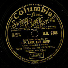 Gene Krupa Orch. Hop, Skip, and jump/Disc jockey Jump gomma lacca x2236