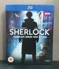 Sherlock : Complete Series 1 & 2 (Blu-ray w/Slipcover) All Region Like New