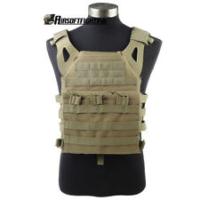 Airsoft Molle 2pcs Modular Plate Carrier JPC Military Paintball Combat Vest TAN