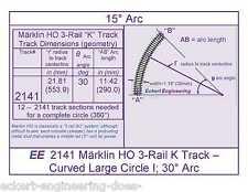 """EE 2141 EXC Maerklin Marklin Märklin HO 3-Rail """"K"""" Track - Curved Large Circle I"""