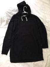 Nicht Dweller Kapuzen Pullover oversized loose fit schwarz NN-C2704