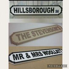 Signo calle de madera personalizado hecho a mano Sr. & sra. Boda 80 cm X 15 Cm