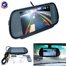 "7"" LCD TFT Color Screen Auto Car Reverse Parking Rear View Backup Mirror Monitor"