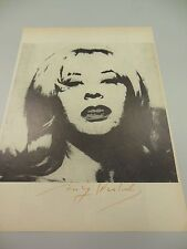 "ANDY WARHOL HAND SIGNED  PRINT IN COPPER-RED PEN ""DOLLY"" 1966 WITH COA"