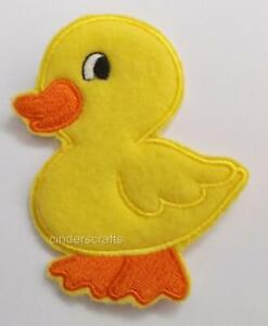 """Machine Embroidered Playful Duck Applique size 1.57"""" x 2.49"""""""