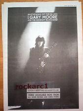 "GARY MOORE Midnight Blues Band 1991 UK Poster size Press ADVERT 16x12"""
