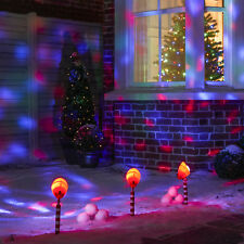 Moving Christmas Outdoor Garden House Lights Wall Projector LED Kaleidoscope