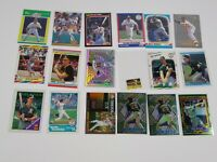 MARK MCGWIRE BASEBALL CARD LOT OF 18 OAKLAND A'S TOPPS FINEST O PEE CHEE FLEER