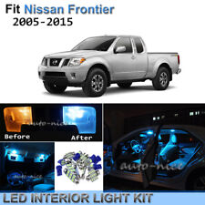 8pc Bright Ice Blue Interior LED Light Package Kit For 2005-2016 Nissan Frontier
