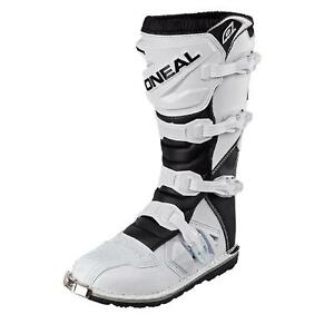 O'Neal Rider Boot MX Stiefel Weiß Moto Cross Motorrad Enduro Offroad Quad ATV
