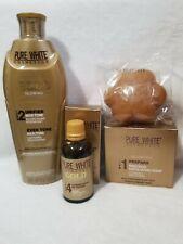 Pure white gold lightning 400ml  body lotion,serum,soap set of ( 3 )