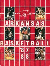 1987-88 University of Arkansas Razorback Basketball Media Guide  W2