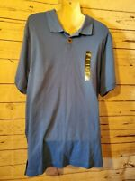 Boca Classics Large Blue Mens Polo Short Sleeve Shirt Free Shipping