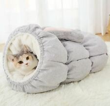 New Warm Pet Dog Cat House Sleeping Bag Bed Sofa Tent Rabbit Shape tunnel