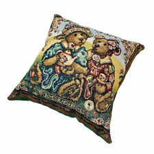 "Boyds Bears Afternoon Tea with Emma and Bailey 17"" Tapestry Square Pillow"
