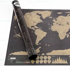 Black luxury Edition Scratch-Off Personal Travel scatch World Map pictures decal