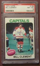 1975 TOPPS #189 BILL CLEMENT CAPITALS GRADED PSA 8 NM-MT HOCKEY CARD *C56
