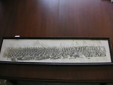 WW1 Framed  Yard Long Troop Photo The Miller Studio Augusta Ga No Glass As Is