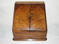 06F28 Antiguo Despacho de Combinación Victoriano Lupa Nogal Mueble XIX E