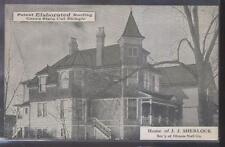 Postcard KALAMAZOO Michigan/MI  Roofing Co Promo J.J. Sherlock Home view 1910's