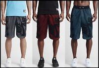 $75 M-L Nike Air Pivot V3 Mesh Basketball 🏀 Black, Red or Teal Drop Hem Shorts